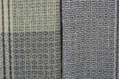 Decke aus Babyalpaca/ Merino; Farbverflechtung